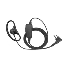 Load image into Gallery viewer, DRA1W D-Ring 1-Wire Adjustable Flexible Earpiece with Inline PTT and Microphone