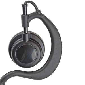 EHLG1W Ear Hook 1-Wire Large Earpiece with Large Speaker, Inline PTT, and Microphone