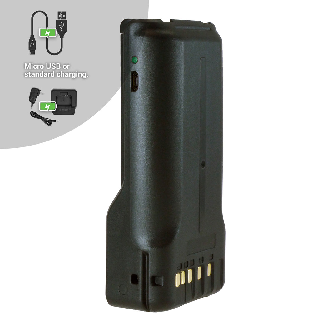 Good 2 Go G2GKNBL2 2600mAh Li-ion Battery with Micro USB Charging Port for Kenwood Portable Two-Way Radios