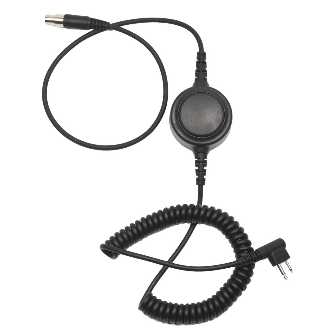 HS5-CAB Detachable Heavy Duty Coil Headset Cable with Inline PTT for HS1, HS3, HS3G, HS5, HS7, and HS9 Headsets