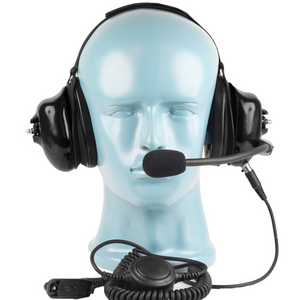 HS5 Heavy Duty Behind-the-Head Dual Muff Lightweight Headset with Noise-Canceling Flex Boom Mic (Headset Only)