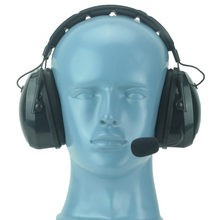 Load image into Gallery viewer, HS9 Heavy Duty Over-the-Head Dual Muff Lightweight Headset with Noise-Canceling Flex Boom Mic and Padded Headband (Headset Only)