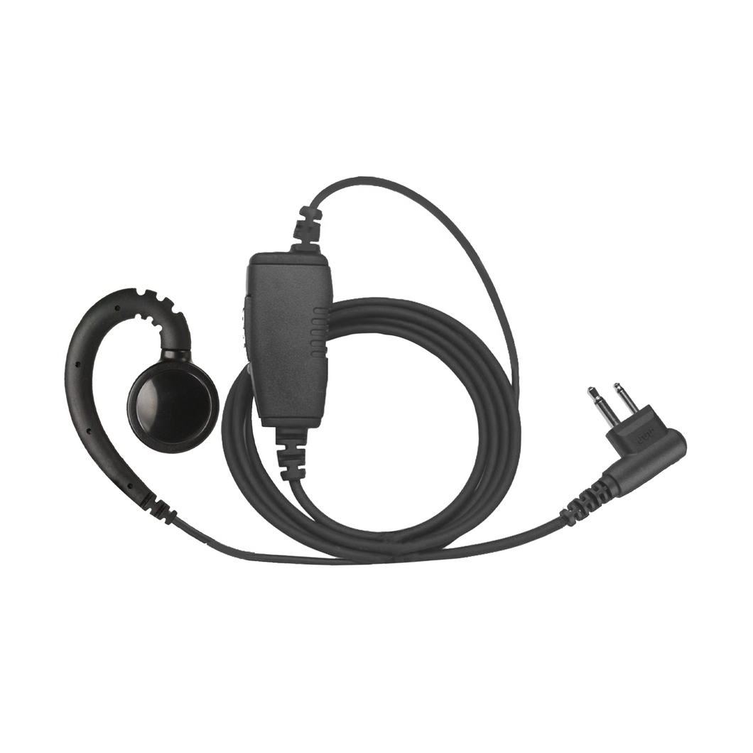 SWVL1W Swivel 1-Wire Earpiece with Inline PTT and Microphone