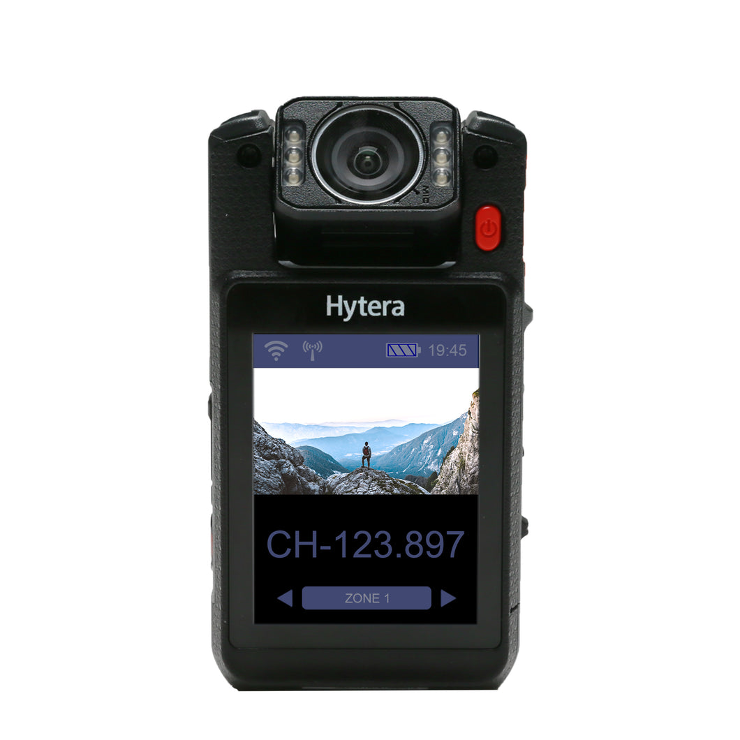 Hytera VM780 64GB Video Bodycam and Push-to-Talk Radio with Wi-Fi and Nationwide 3G/4G/LTE Coverage (Device Only)