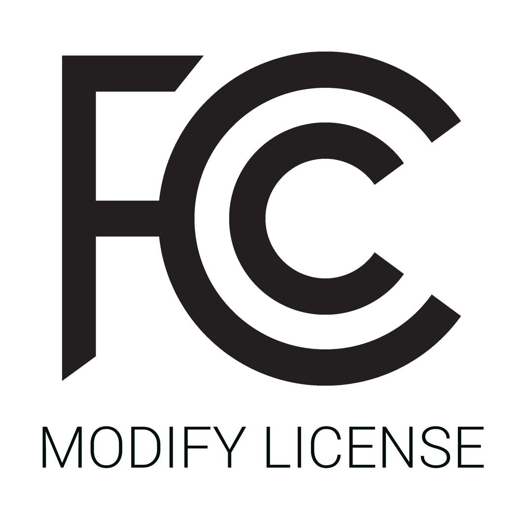 Standard Use: Modify your existing FCC-licensed frequencies