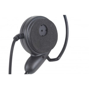 HSB Ultra-Lite Heavy Duty Behind-the-Head Single Muff Headset with Boom Mic and Inline PTT