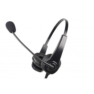HSD Heavy Duty Lightweight Dual Muff Adjustable Headset with Boom Mic and Inline PTT