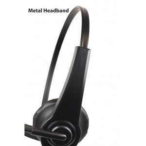 HSS Heavy Duty Lightweight Single Muff Adjustable Headset with Boom Mic and Inline PTT