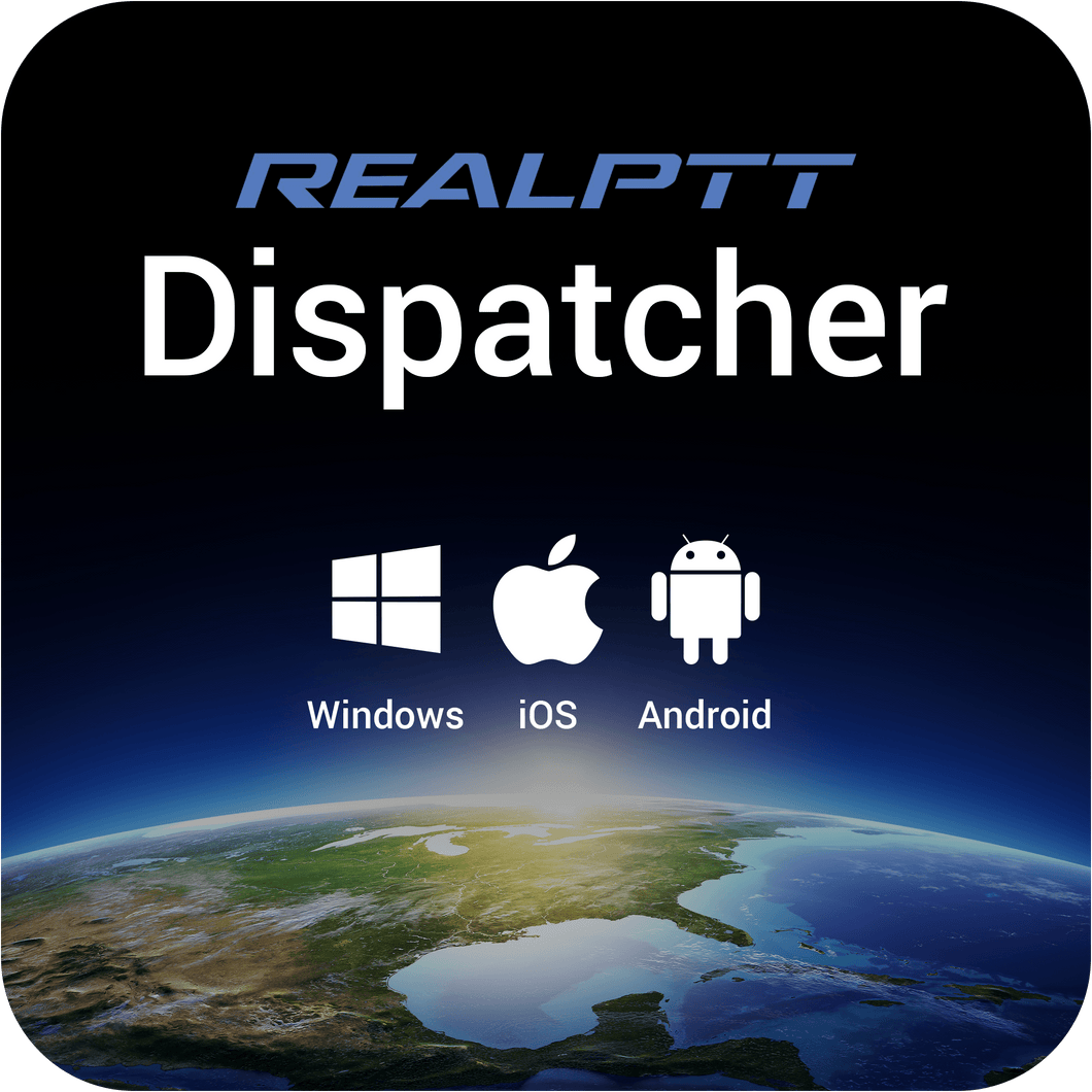 RealPTT Dispatcher - Desktop and Mobile App for Location and Communications Management - Single User Monthly Subscription