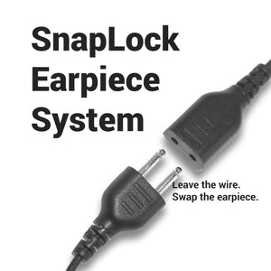 SnapLock SL+1W 1-Wire System with Inline PTT / Mic with Added Shielding and Braided Fiber Cloth (SnapLock Earpiece Sold Separately)