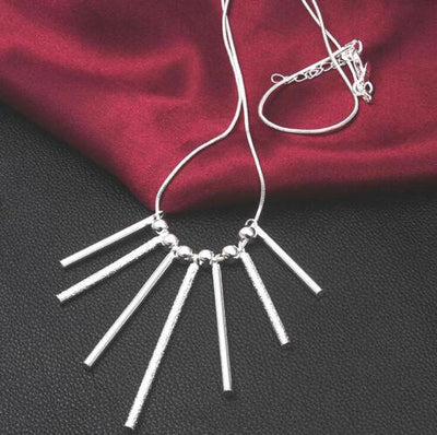 925 Silver Retro Fashion Seven Pillars Necklace