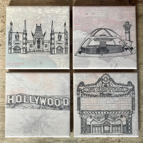 Los Angeles Coaster Set