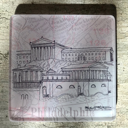 Art Museum & Water Works - Glass Coaster