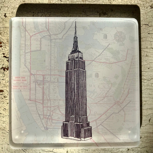 Empire State Building - Glass Coaster