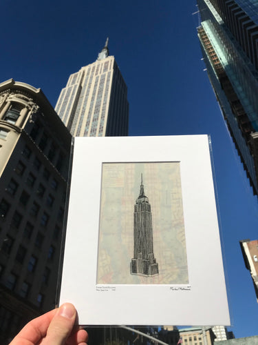 Empire State Building 8x10 Print