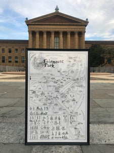 Fairmount Park Poster Print with Frame