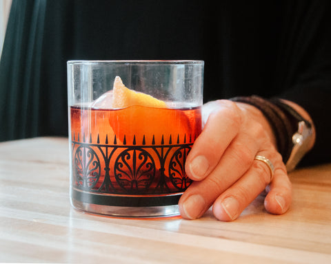Negroni How to Make Craft Tutorial On the rocks glass Iron Gate The modern home bar