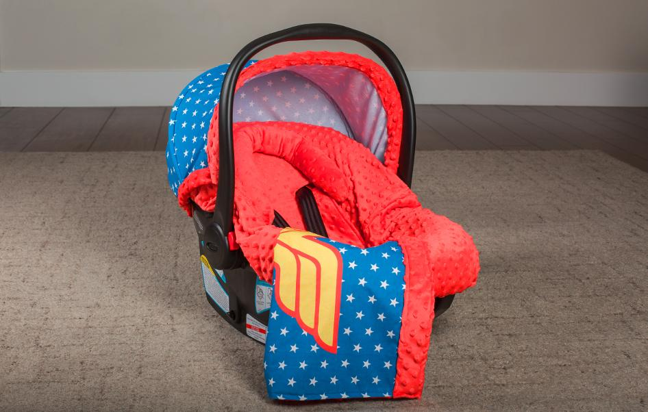 Superheroes Car Seat Caboodle Cover-Car Seat Cover-Kradle me