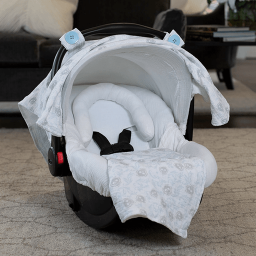 Muslin Car Seat Canopy Cover Whole Caboodle-Car Seat Cover-Kradle me