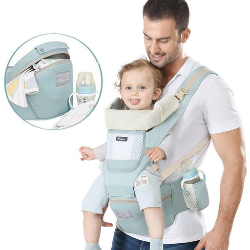 6-in-1 One Size Fits All Baby Carrier with Waist Stool - Kradle Me