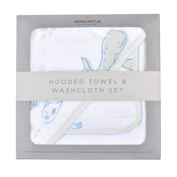 Newcastle Classics | Hooded Towel and Washcloth Set for Girls - Kradle Me