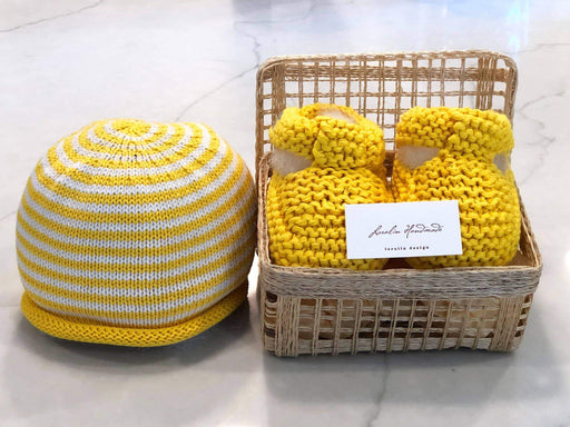 Booties and Hat Set in Basket - Kradle Me