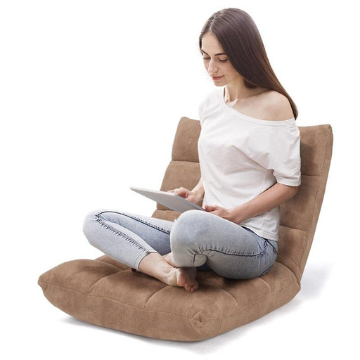 Adjustable 14-Position Memory Foam Comfortable Back Support Floor Chair - Kradle Me