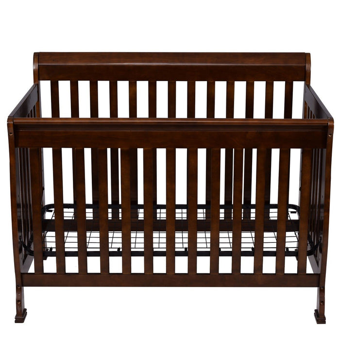 Baby Toddler Convertible Crib |  Coffee Pine Wood - Kradle Me