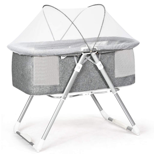 2-in-1 Portable Newborn Baby Rocking Foldaway Bassinet Crib - Kradle Me