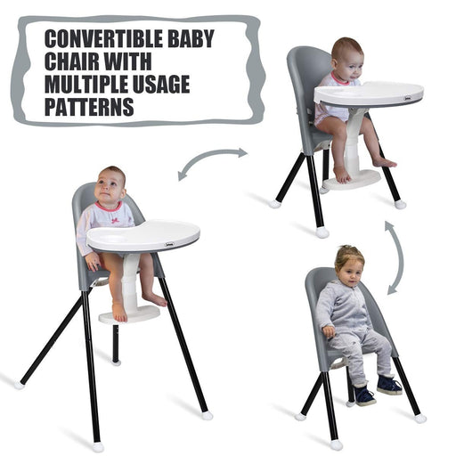3 in 1 Convertible Highchair with Detachable Double Trays - Kradle Me