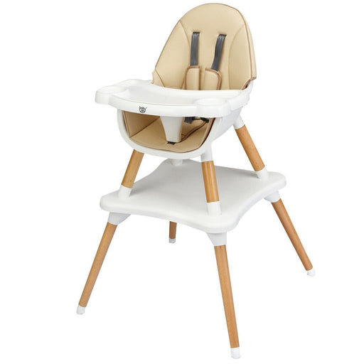 4-in-1 Convertible Wooden Baby High Chair - Kradle Me
