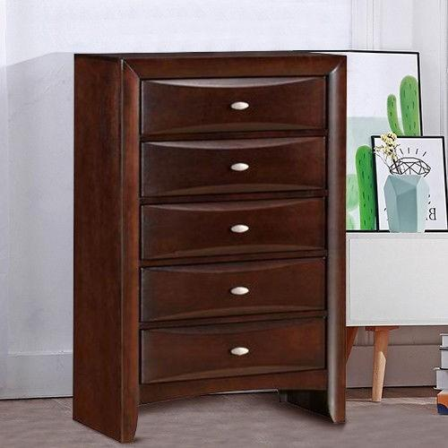 Scandinavian Design 5 Drawers Storage Dresser Organizer Chest - Kradle Me
