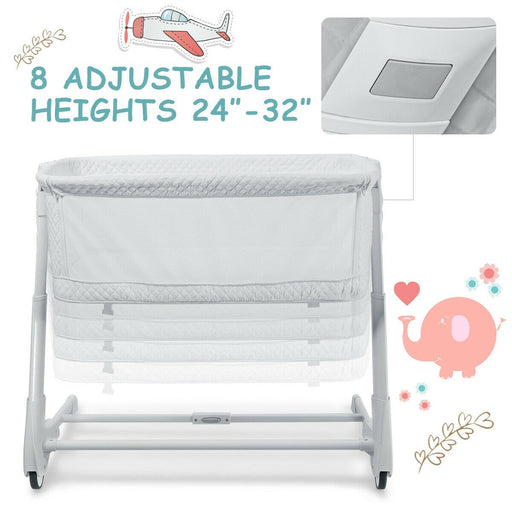 2-in-1 Adjustable Baby Bedside Bassinet with Washable Mattress - Kradle Me