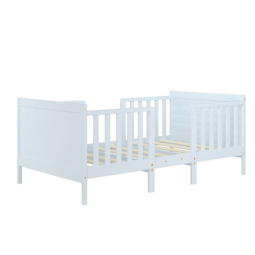 2-in-1 Convertible Toddler bed with Guardrails - Kradle Me