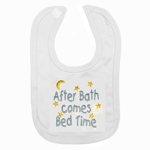 After Bath Comes Bed Time Bib