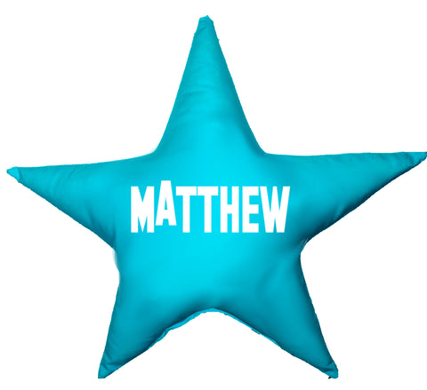 Boys Name Star Shaped Cushion