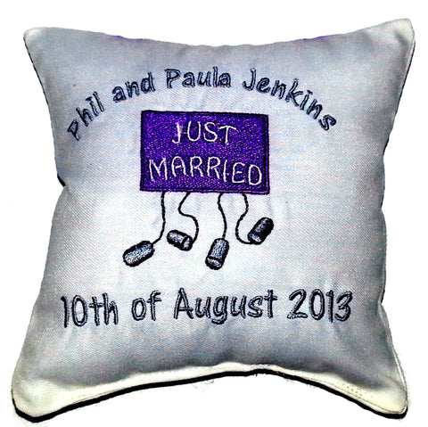 Just Married Cushion