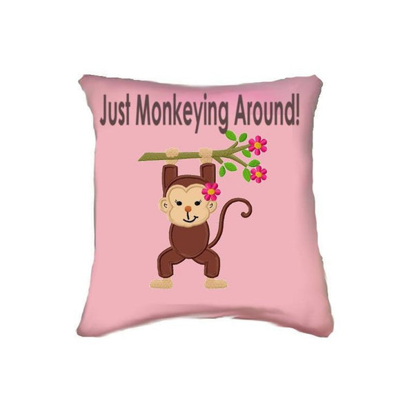 Just Monkeying Around Girly Cushion
