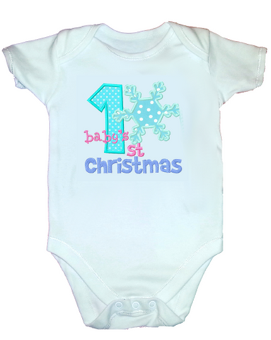 Baby's First Christmas Snowflake bodysuit