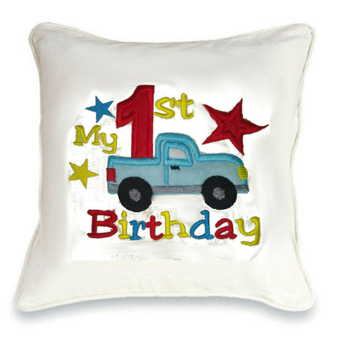 Birthday Truck Cushion