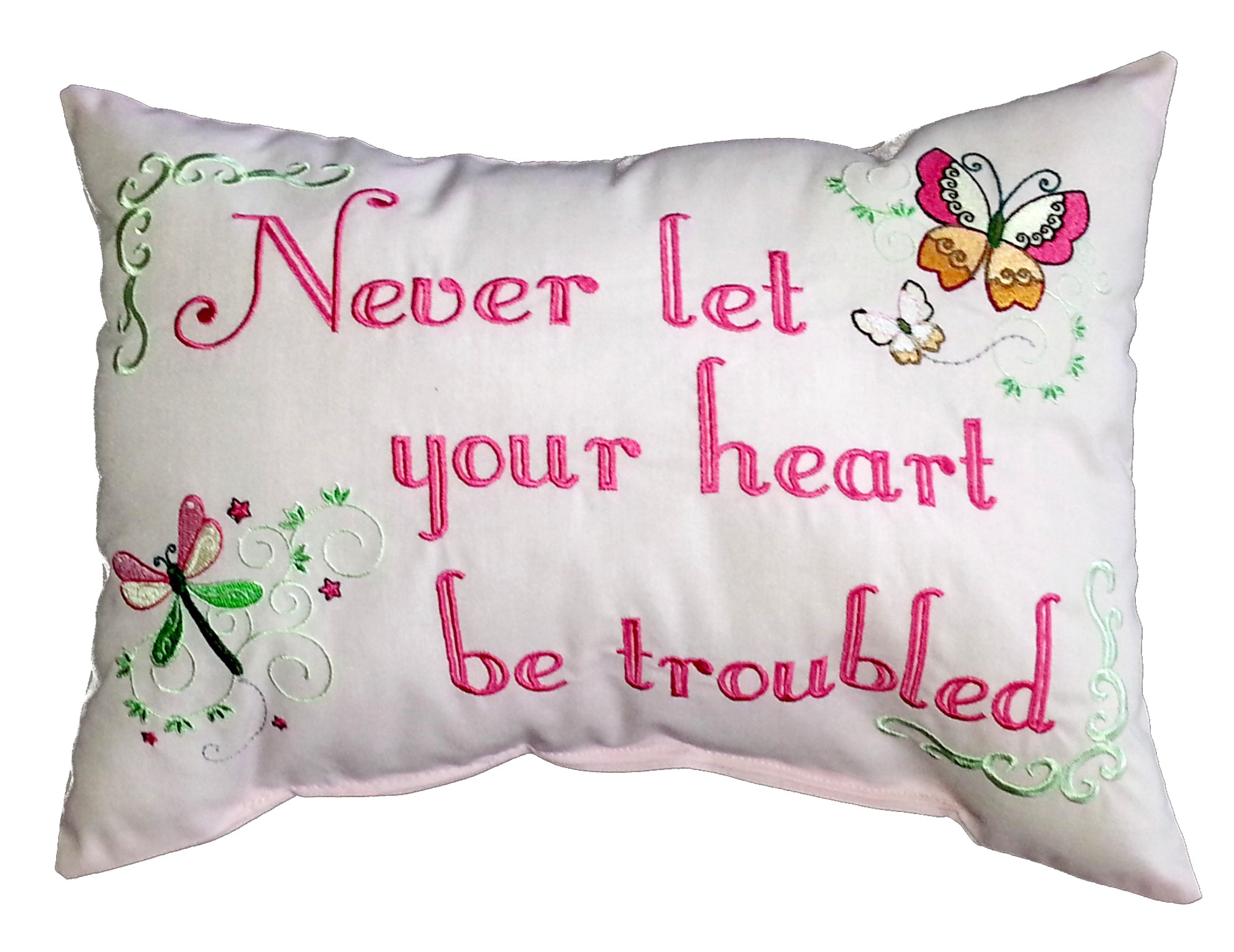 Never let your heart be troubled Cushion