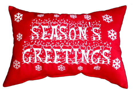 Seasons Greetings Cushion