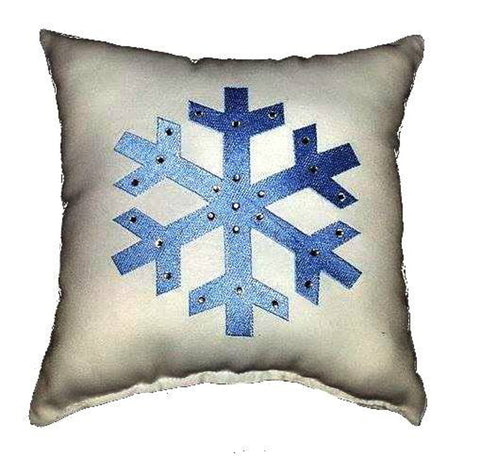 Snowflake Diamante Cushion