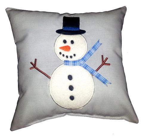Snowman (3D Scarf) Cushion