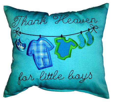 Thank Heaven for Little Boys Cushion