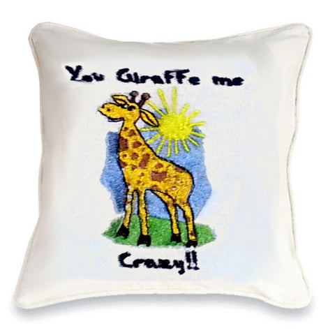 You Giraffe Me Crazy Cushion