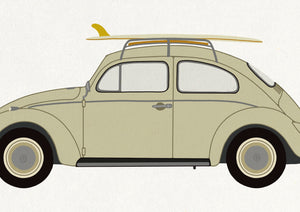 VW Beetle Bug fine art print closeup