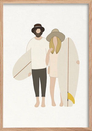 Surf Art Print - AS ONE
