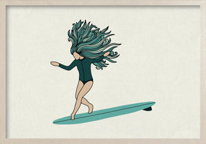 Surf Art Print - WATERGIRL
