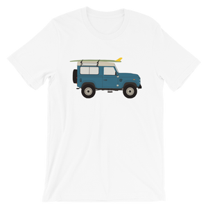 Land Rover graphic unisex T-Shirt in light white